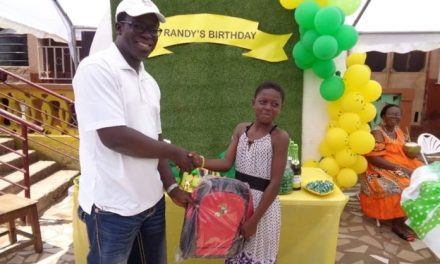 S.O. Frimpong gives to Save Them Young Orphanage