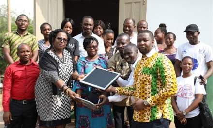 Baiden Ghartey Hospital gives to 81 Schools in Cape Coast