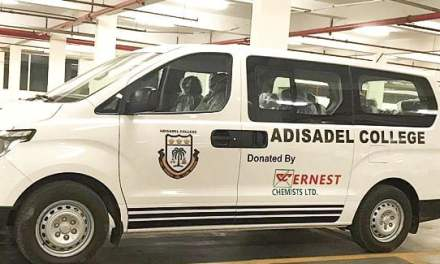 Ernest Chemists gives Adisadel College vehicle, computers