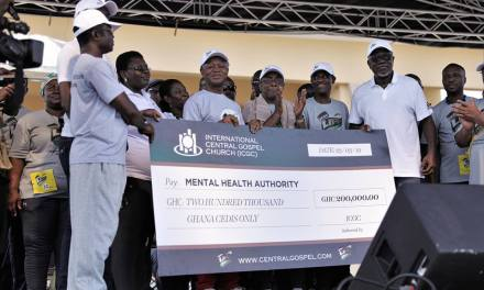 ICGC gives GHC200,000 to three psychiatric hospitals in Ghana