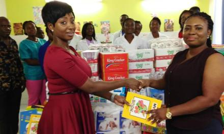 ADK Consult gives to kids at Gtr Accra Regional Hospital