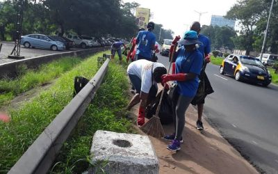 Rotary Accra Ring Road Central cleans up Ring Road