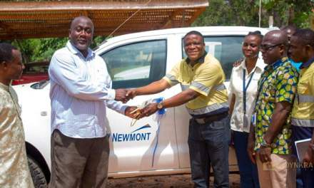 Newmont Akyem Mine gives truck to Birim North DISEC