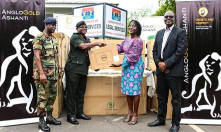 AngloGold Ashanti gives Armed Forces computers, a/c's