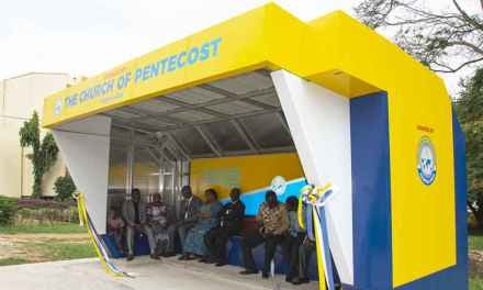 Church of Pentecost Asokwa Area builds new sheltered bus stop for KNUST