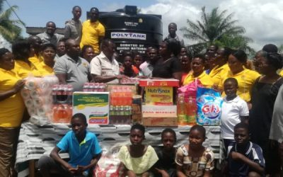 Fire Service Course 33 Group give to Akwadum Orphange