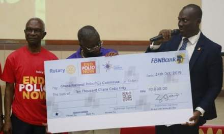 FBNBank Ghana donates GHC20k to help eradicate polio
