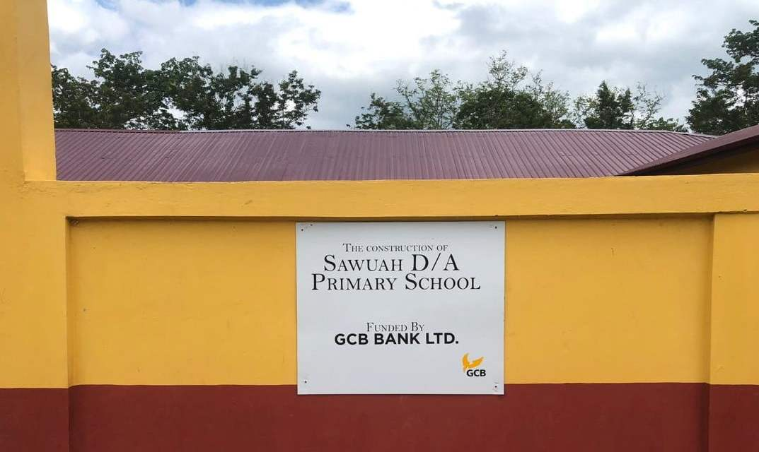GCB Bank Constructs 6-unit school facility for Sawuah