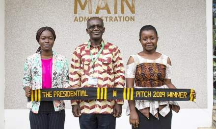 KNUST gives GHC100K to 2019 Presidential Pitch winners Emily Otoo-Quayson, Matilda Sampong