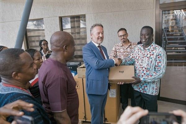 Ghana-German Centre gives IT equipment to Labour Ministry