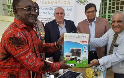 Elumis Foundation gives MOFA 400 solar kits