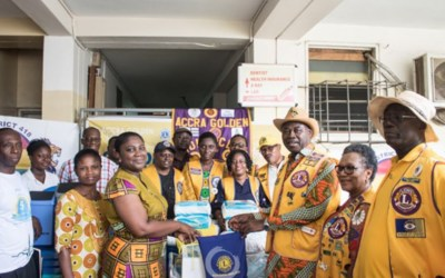 Accra Golden Lions gives to KATH Pediatric Oncology Unit