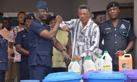 M&C Group assist East Legon Police fight COVID-19