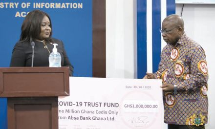 ABSA Bank donates GH¢1M to COVID-19 Trust Fund