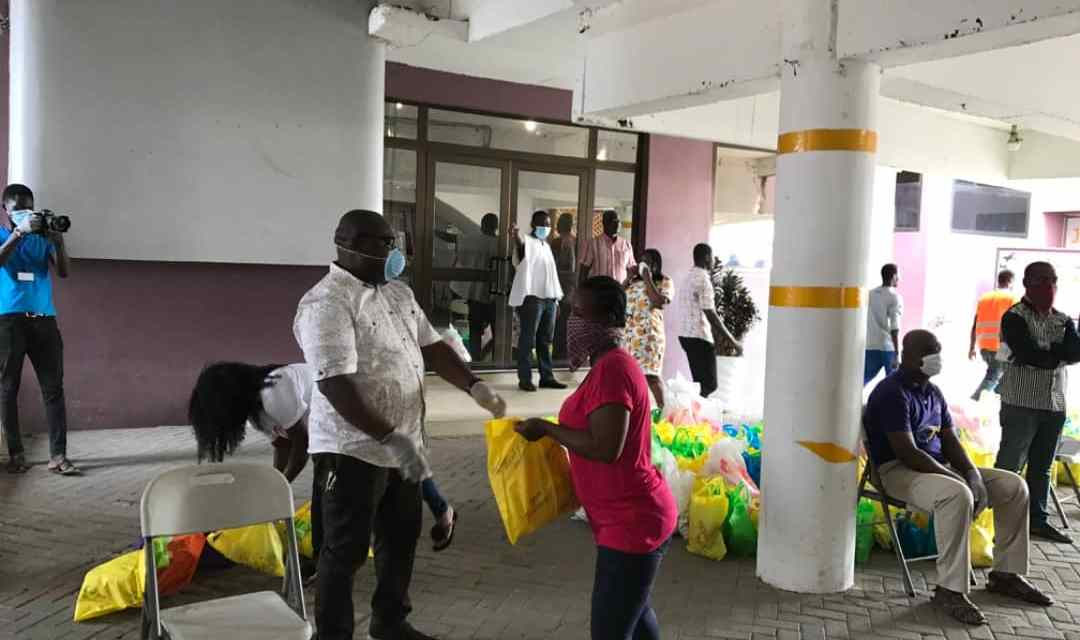 Victory Bible Church gives food to 2,000 households