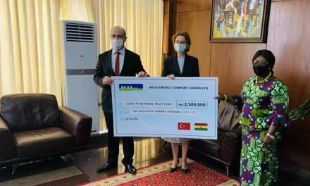 Aksa Energy donates GHS2.5M to COVID-19 Fund