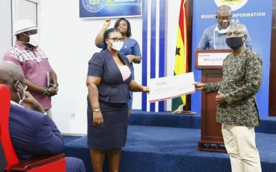 ICAG donates GHS50,000 to COVID-19 Trust Fund