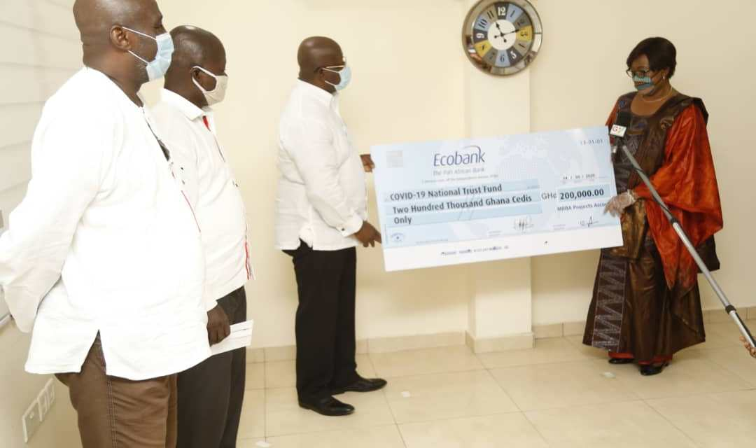 MOBA donates GHS200,000 to COVID-19 Trust Fund