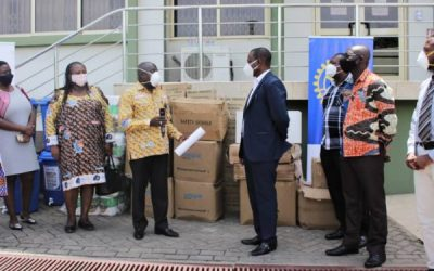 Rotarians in Ghana give GHC125k worth PPE to GHS