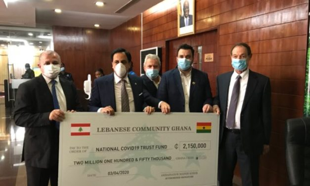 Lebanese Community gives  COVID-19 Fund GHS2M