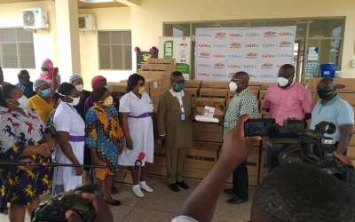 Multichoice Ghana gives GHS500K PPEs to KATH