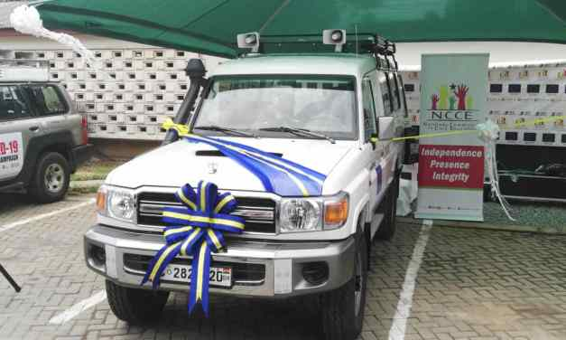 EU gives NCCE cinema van for public education and civic outreach campaigns
