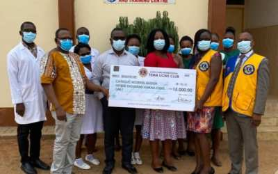 Tema Lions Club gives GHS15,000 to help train health workers in cervical cancer prevention