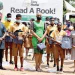 Osei Tutu II Foundation gives school supplies to kids in remote schools in Atwima Nwabiagya