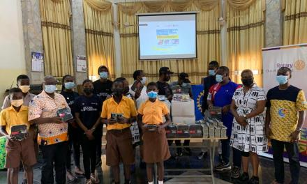 Rotary Club of Accra-West and Rotaract Club of Accra-East Legon donate to Kitase Basic School