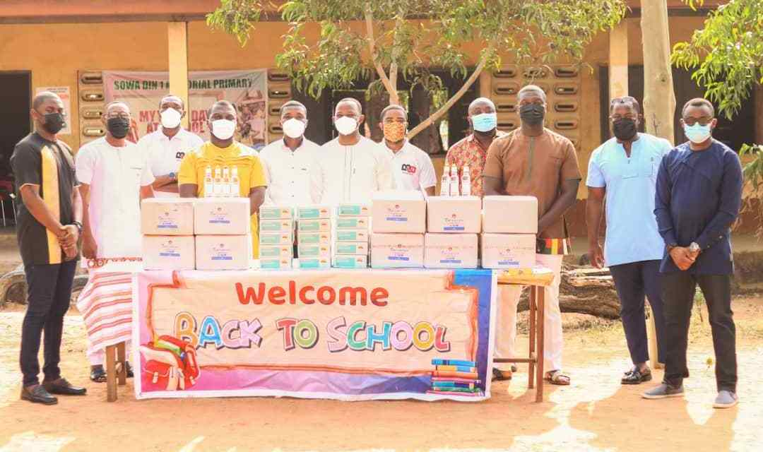 Botweburg donates PPEs, COVID-19 supplies to Nii Sowah Din Memorial Cluster of Schools