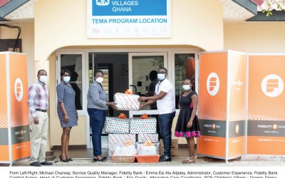 Fidelity Bank Ghana reaches out to kids at SOS Children's Village on National Chocolate Day