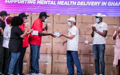 ICGC assists psychiatric hospitals with donation of PPEs to Mental Health Authority