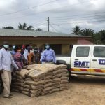 SMT Ghana donates iron rods to support building project at Jerusalem M.A. Primary School