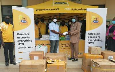 MTN Ghana donates PPE, other supplies worth GHS5 Million to Cape Coast Teaching Hospital
