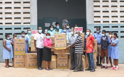 Opportunity International Savings & Loans donates PPE to Akropong School for the Blind