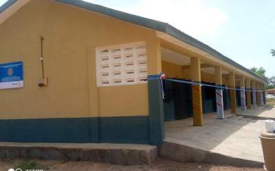 Rotary Club of Sunyani Central builds classrooms, toilets for Yawhima SDA School