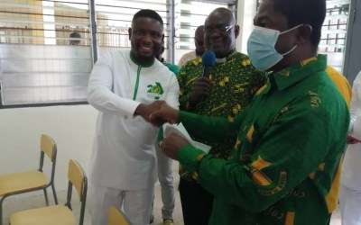 Prempeh College gets audiovisual equipment from Millennium Amanfuo Group