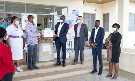 TechnipFMC Ghana gives PPE, sanitary supplies to COVID-19 Centre at Ga East Municipal Hospital