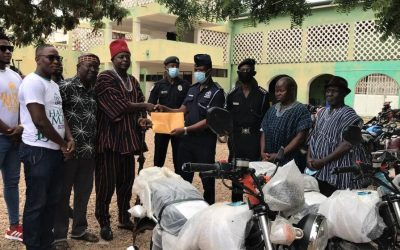Navro-Pio gives Navrongo Police motorbikes to support collective fight against crime