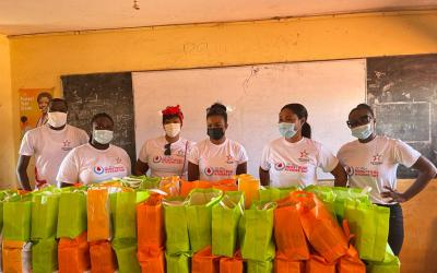 Virtuous Boardroom gives female hygiene pads to 337 girls at Rev. Cobbah Yalley Junior High