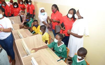 Absa Bank Ghana employees give 100 computers to Kressner Home, St. Anthony Catholic Schools