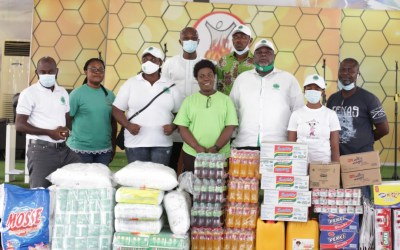 Atta Mills Institute donates groceries and essentials to YOA Disability Foundation