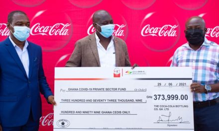 Coca-Cola Ghana gives COVID-19 Private Sector Fund GHS374,000, a third-time donation since 2020