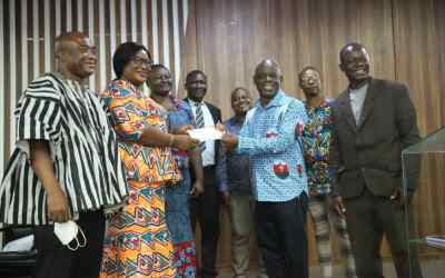 GNAT donates GHS154,000 to seven Colleges of Education to purchase science equipment