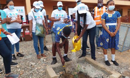Nestlé Cares plants trees, donates gardening tools and hand washing stations to Tema schools