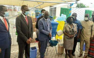 Ghana Revenue Authority gives hand washing equipment, sanitary supplies to 160 schools