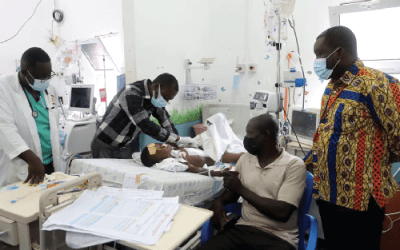 Graphic Needy Fund supports colon bypass surgery for five-year old Nborapor