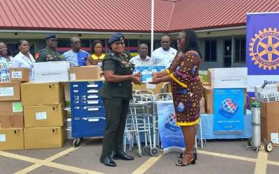 Rotary Club of Accra–Airport gives medical equipment, supplies to 37 Military Hospital