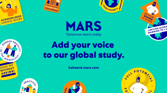 Mars, Inc. has launched a global study to listen to and elevate the voices of women. (Image credit: Mars, Inc.)