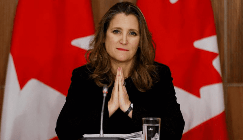 Chrystia Freeland, Canada's Deputy Prime Minister and Minister of Finance, will be the Task Force co-chair, along with Associate Minister of Finance Mona Fortier. (Image credit: Reuters)